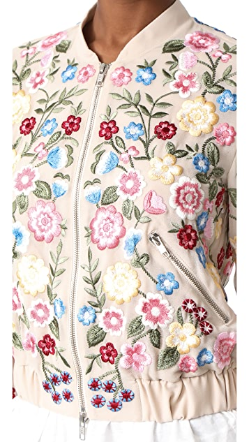 Needle & Thread 花朵叶子短夹克
