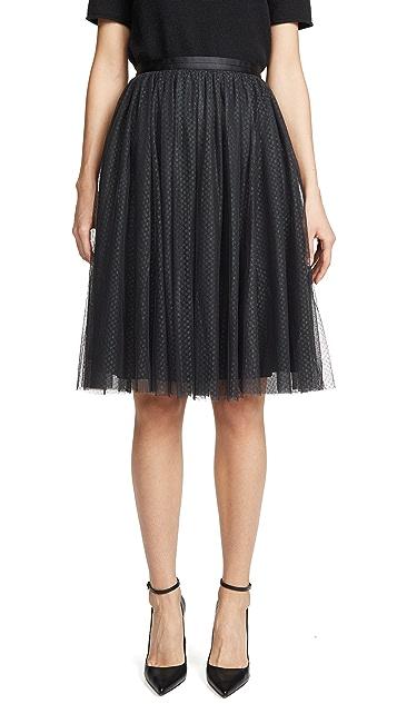 Needle & Thread 薄纱点缀中长半身裙