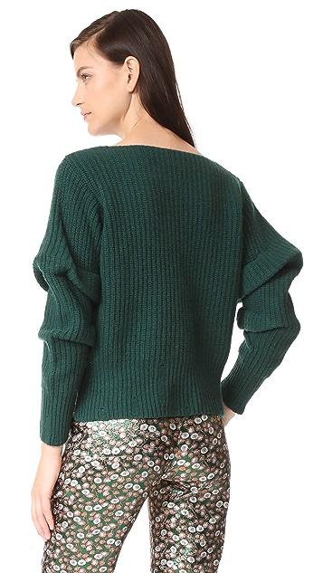 NUDE V 领毛衣