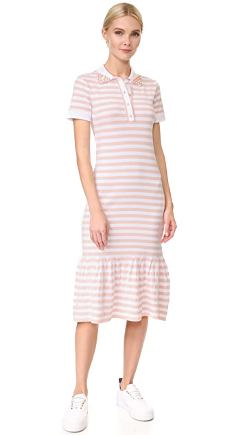 Natasha Zinko 短袖条纹连衣裙