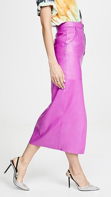Natasha Zinko 皮中长半身裙