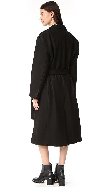 橡木棕 配有腰带的外套