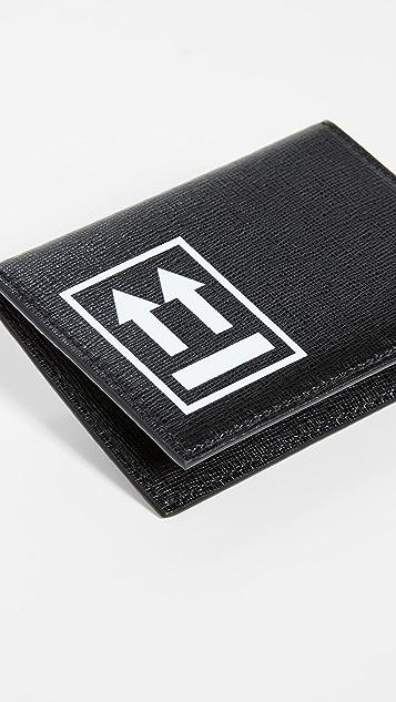 Off-White 黑色卡片包