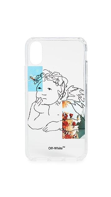 米白色 天使 iPhone X 手机壳