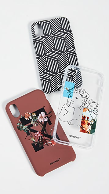 Off-White Flowers Carryover iPhone X 手机壳