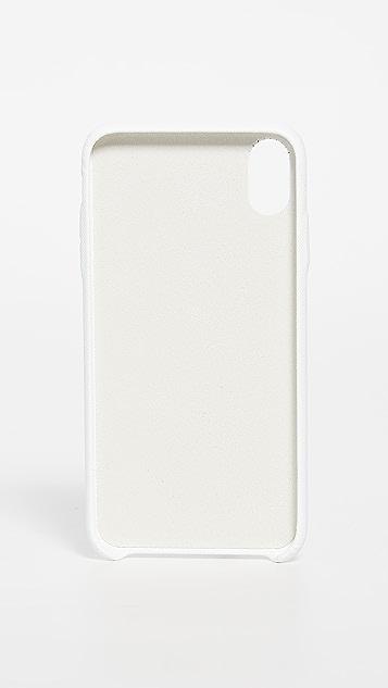 米白色 多色徽标 iPhone XS Max 手机壳