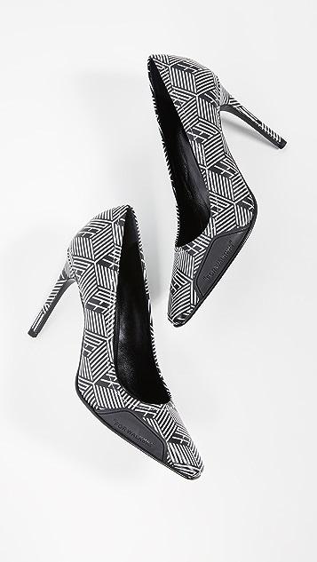 Off-White 交织字母浅口鞋
