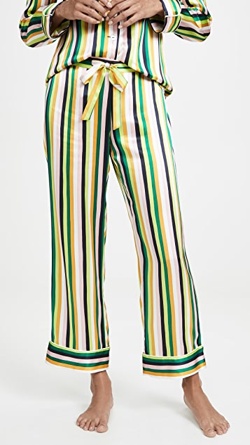 Olivia von Halle Lila 1977 睡衣套装