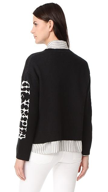 Olympia Le-Tan Griffin 针织衫