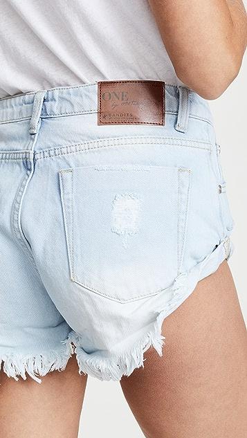One Teaspoon Wilde Bandits 短裤