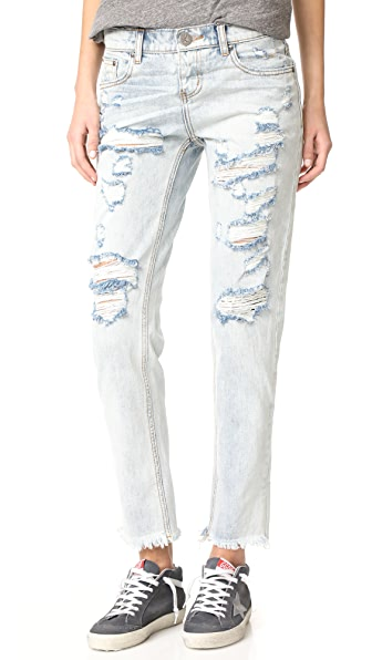 One Teaspoon Blue Hart Awesome Baggie 牛仔裤
