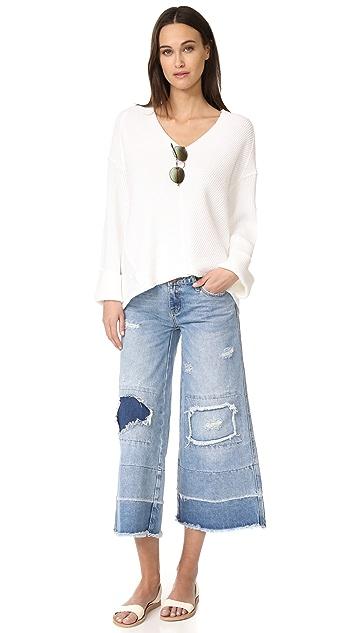 One Teaspoon Blue Bone Mrs. James 裙裤式牛仔裤