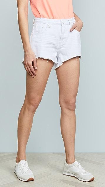 One Teaspoon White Beauty 卡车司机短裤