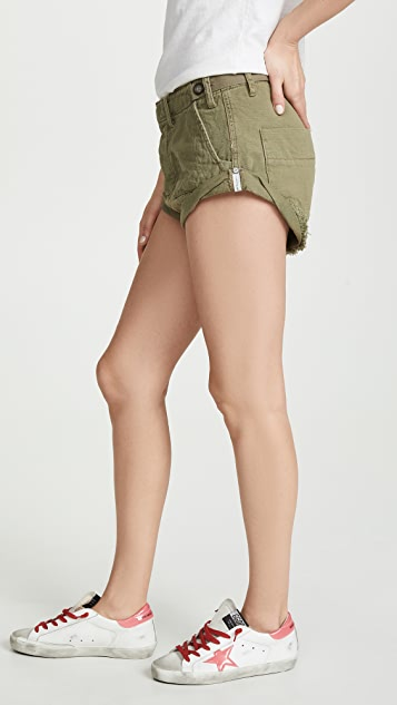 One Teaspoon Militaire Bandits 牛仔布短裤