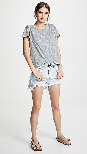 One Teaspoon Legend High Waist Mom Fit 短裤