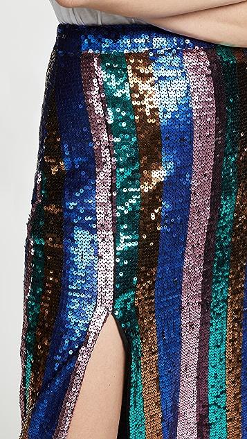 Valencia & Vine 亮片条纹铅笔裙