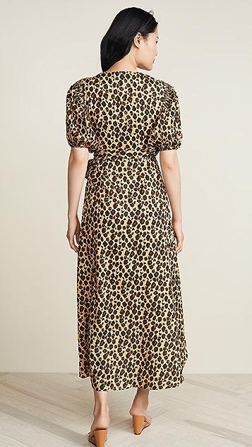 Valencia & Vine 豹纹裹身式连衣裙