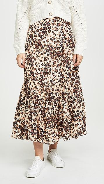 Valencia & Vine 豹纹半身裙