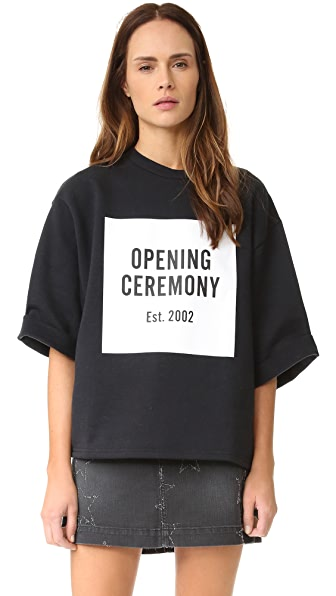 Opening Ceremony 徽标运动衫式 T 恤