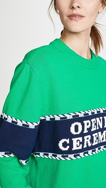 Opening Ceremony 徽标条纹毛衣