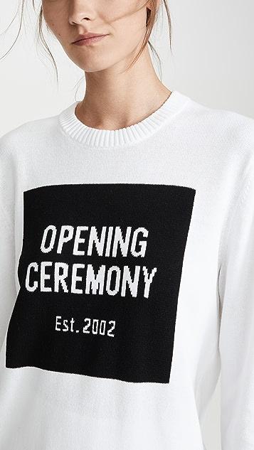 Opening Ceremony 方形徽标圆领毛衣