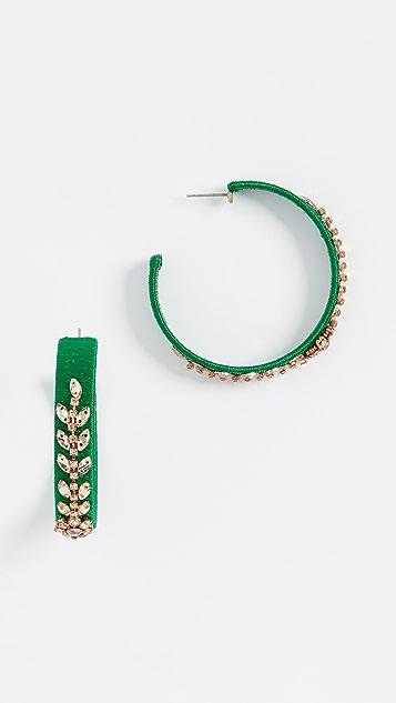 Oscar de la Renta 水晶珠饰圈式耳环