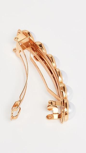Oscar de la Renta 人造珍珠发夹