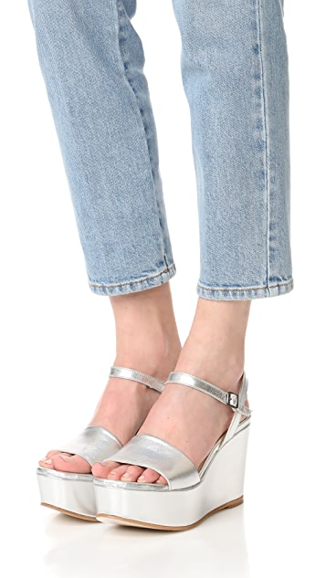 Ouigal Vera 厚底坡跟鞋