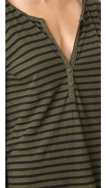 Pam & Gela 条纹亨利衫