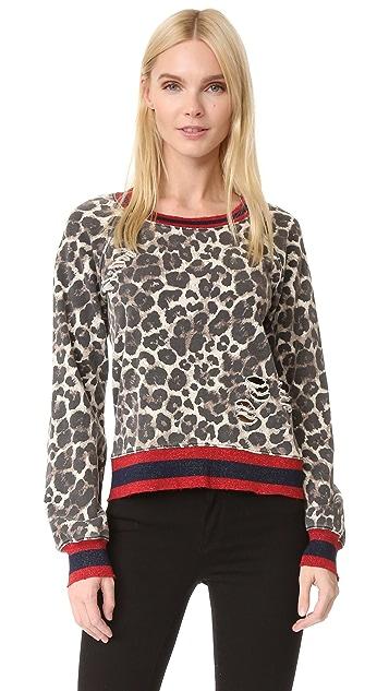 Pam & Gela 豹纹印花运动衫