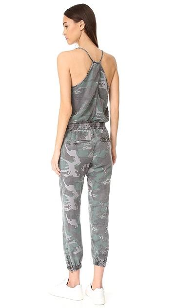 Pam & Gela 迷彩绑带式连身衣