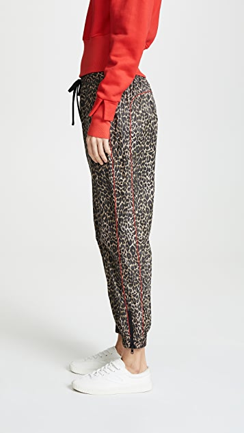 Pam & Gela 红色滚边运动裤