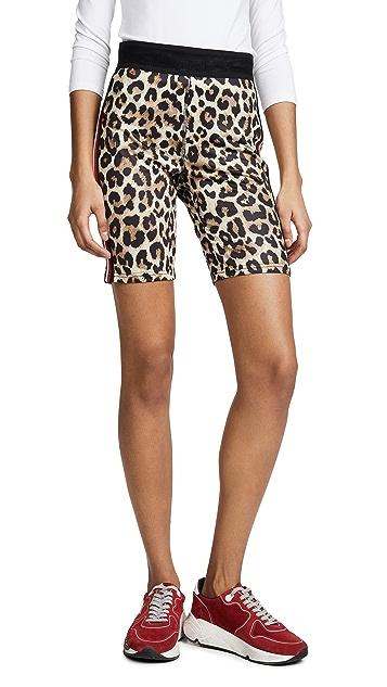 Pam & Gela 豹纹机车短裤