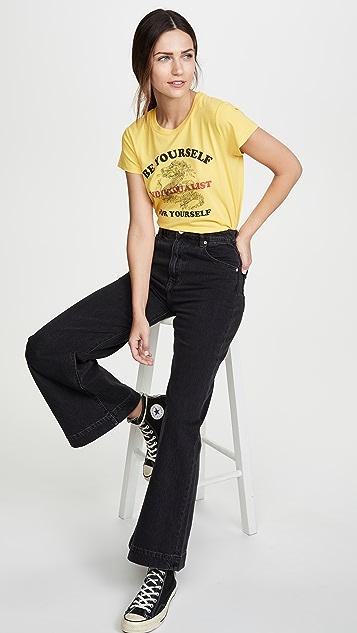 Pam & Gela 黄色标志短款 T 恤