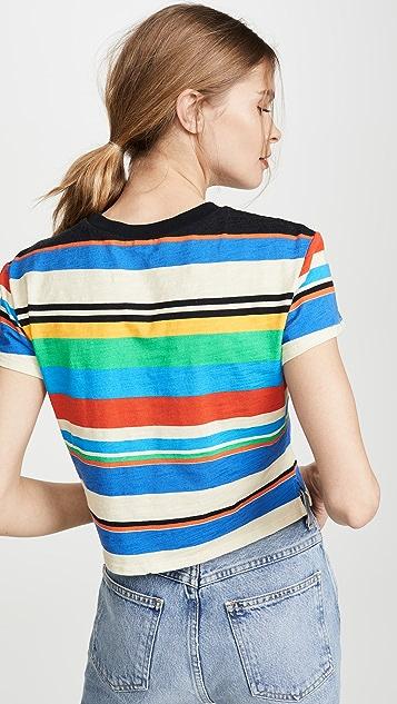 Pam & Gela 条纹水手领 T 恤