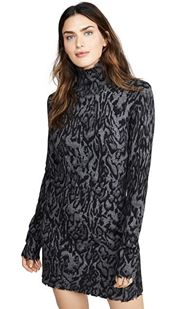 Pam & Gela Ocelot 半高领连衣裙