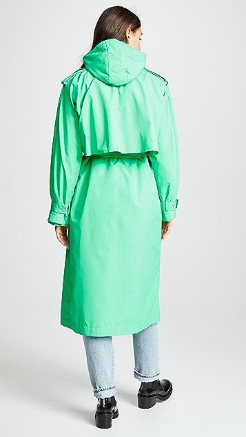 Paskal 双排扣夹棉大衣