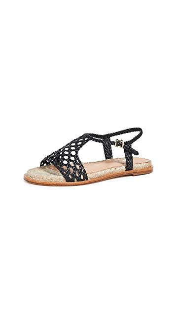 Paloma Barcelo Sandrine 梭织平底凉鞋