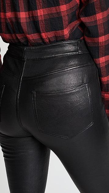 PAIGE Hoxton 弹性皮裤