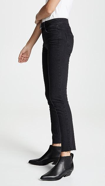 PAIGE Hoxton 带腰带及踝牛仔裤