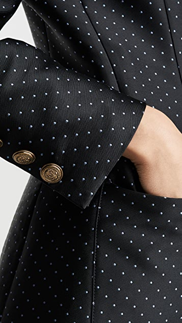 Philosophy di Lorenzo Serafini 迷你圆点双排扣西装外套