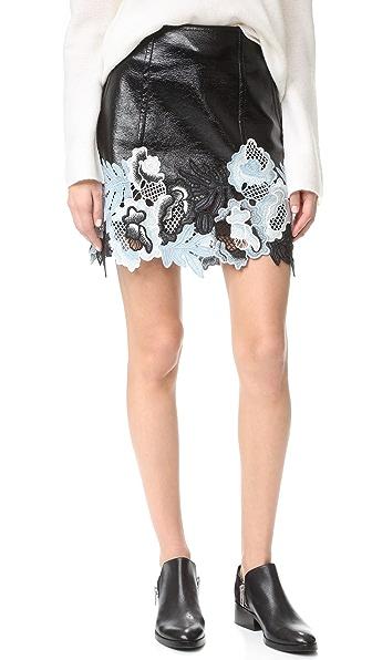 3.1 Phillip Lim Vinyl 蕾丝半身裙