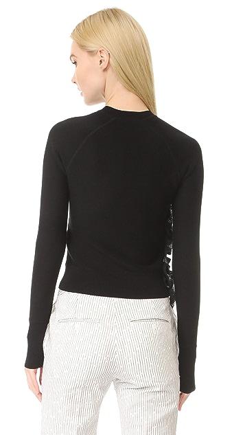 3.1 Phillip Lim 拉链设计荷叶边运动套衫