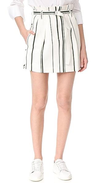3.1 Phillip Lim 系腰条纹半身裙