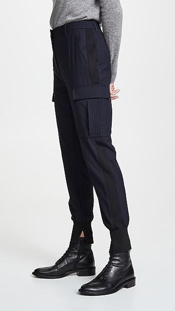 3.1 Phillip Lim 细条纹慢跑裤