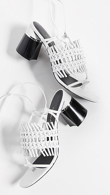 3.1 Phillip Lim Drum 70mm 钩针织凉鞋