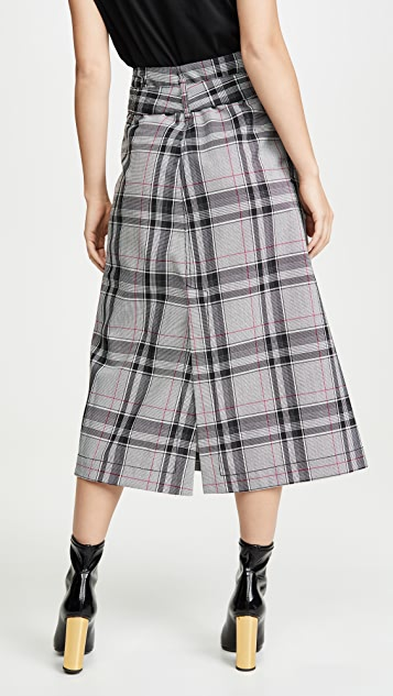3.1 Phillip Lim 格纹系腰带明线半身裙