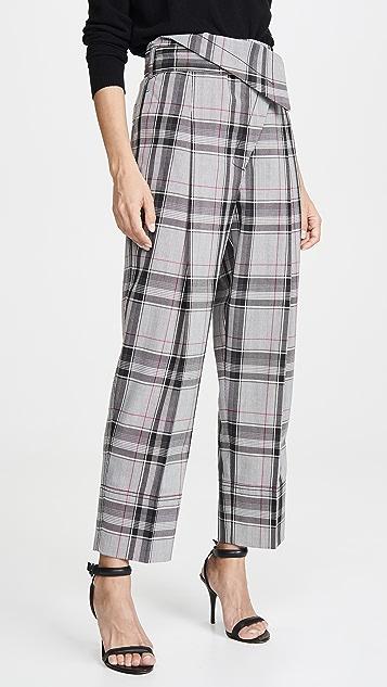 3.1 Phillip Lim 格子系腰带交叠长裤
