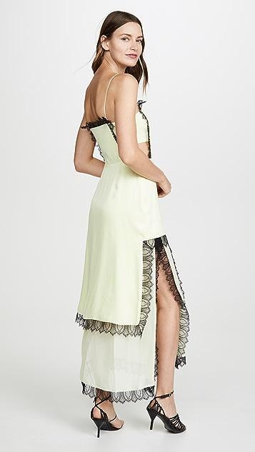 3.1 Phillip Lim 蕾丝设计方形前开衩连衣裙