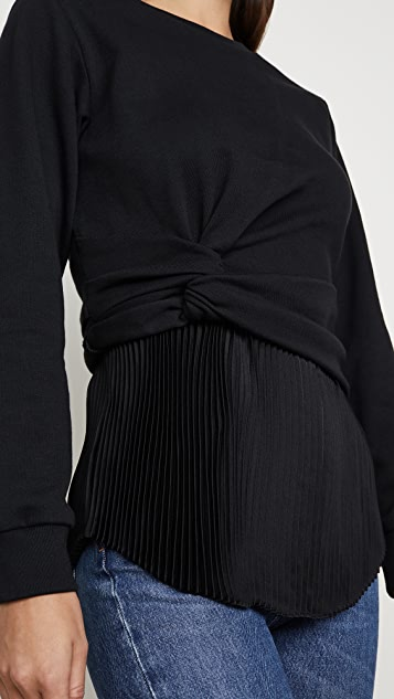 3.1 Phillip Lim 裥褶长袖扭褶套头衫